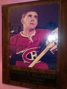Maurice Richard Autographed Plaque