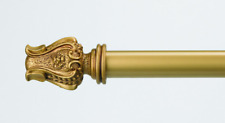 """New 48-84"""" Massimo Finial Extendable Rod Set Antique Gold Drapery, Curtain Rod"""