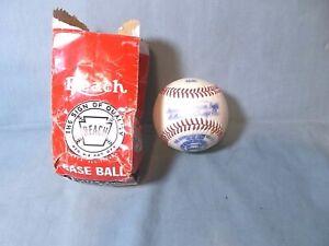 Vntg 1946-47 William Harridge Reach Am. League Baseball w/original pouch