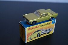 Matchbox Lincoln Continental 31 in OPV Mint