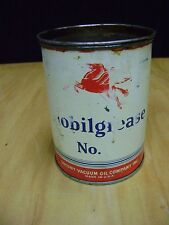 VINTAGE  Mobil MOBILGREASE 1 Lb.(  No.    ) Can Made in USA Partial Contents