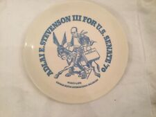 Adlai e. stevenson Iii for u.s. senate 1970 collector plate rare
