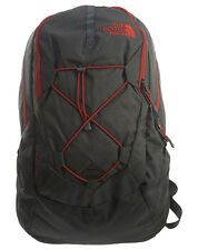 North Face Jester Backpack Mens CHJ4-TRE Asphalt Grey Red Bookbag Laptop Bag