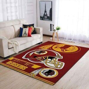 Washington Redskins Area Rug Carpet Anti-Skid Rugs Bedroom Living Room Floor Mat