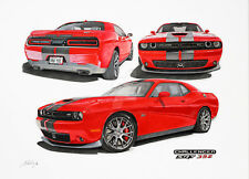 """Dodge Challenger 10"""" Racing Stripes Graphic Decal 40 Feet 2008-2018 3M Any Color"""