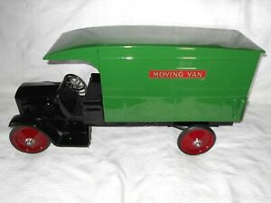 1930's Steelcraft 24 inch Pressed Steel GMC Moving Van Opening Tailgate  BEAUTY