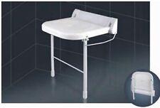 Duschsitz klappbar weiß mit Stützfüßen Weklas bis 180 kg Tragkraft Wandmontage