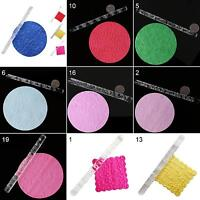 19 Designs Textured Embossing Acrylic Rolling Pin Cake Fondant Tools Magic