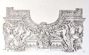 🌓 EUGÈNE DELACROIX (d'après) projet de plafond Le Brun Apollon serpent Python