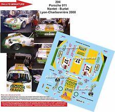 DÉCALS 1/32 réf 294 Porsche 911 Nantet - Burlet Lyon-Charbonnière 2000