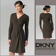 VOGUE V1257 DKNY DESIGNER MISSES' KNIT MOCK WRAP DRESS SEWING PATTERN SIZE 6-12