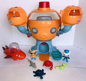 VHTF Octonauts Octopod Mattel 2-Figures, Octo Alarm, Shark Sub,4-sea Creatures