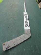 """VINTAGE  Wooden 52""""  Long Hockey Stick Goalie SHER-WOOD PMP G460K"""