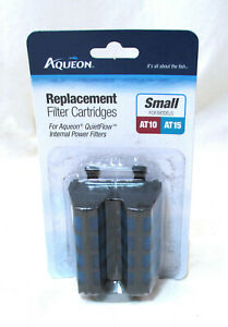 Aqueon QuietFlow Filter Cartridge Replacement 2Pack AT10 AT15 Tank Aquarium.New