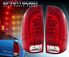 05-15 TOYOTA TACOMA RED CLEAR HOUSING LENS LED TAIL LIGHT LAMP PAIR SET STOP JDM