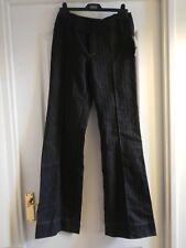 wide leg long Mango chinos suit trousers tuxedo pants black pinstripe creased