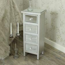 Mirrored 4 drawer tallboy chest of drawers vintage bedroom furniture storage