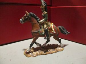 Russian made 54mm scale Napoleonic French Empress Dragoons mounted officer