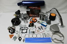 Scooter Big Bore Kit 105cc 52mm Bore QMB139  Large Valve Performance  Kit5Blue
