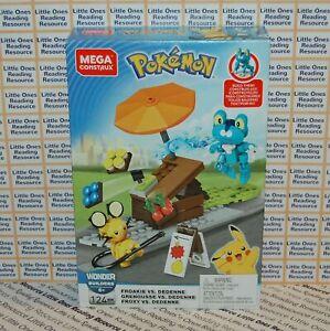 Mega Construx Pokemon FROAKIE VS DEDENNE Building Set GFV78, 124 Pieces