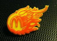 McDonald's Restaurant Lapel Pin - Vintage Golden Arches Flaming Logo Yellow Pin