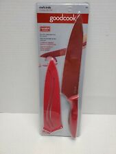 Professional Chef Knife with Sheath by Good Cook Bradshaw Non Stick RED 18808