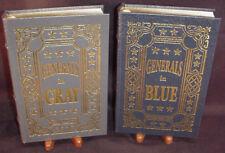 EASTON PRESS GENERALS IN BLUE & GENERALS IN GRAY 2 vols - Ezra J. Warner NEW