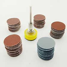 100PCS 1 Inch Sanding Discs Pads For Drill Grinder Rotary Tools + Backing Pad