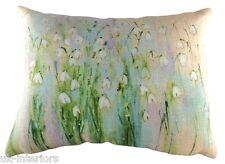 "17""x13"" Snowdrops Sue Fenlon Cushion Evans Lichfield DPA198 43x33cm Flowers"