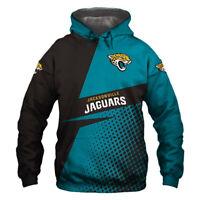 Jacksonville Jaguars Hoodie Hooded Pullover Sweatshirt S-5XL Football Team Fans
