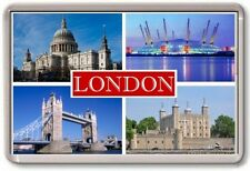 Aimant de Réfrigérateur - Londre - Large - Tourist 4 Rouge