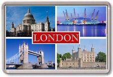 FRIDGE MAGNET - LONDON - Large - TOURIST 4 Red