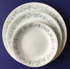 15 pc Corelle Country Cottage Plates Dinner Luncheon Bread Butter Blue Hearts