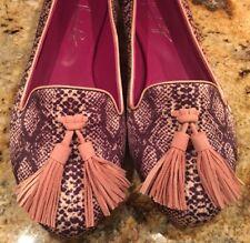 NIB Shoes Of Prey Women's Smoking Slipper Tassel Ballet Flat Size 8.5 RARE