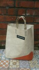 Freitag F52 Miami Vice Shopper Bag White Grey And orange Stripe Tote Shopping