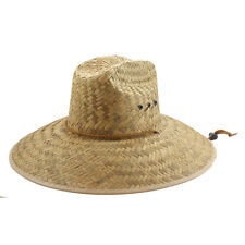 """MENS  LIFEGUARD HAT ---  5"""" BRIM HAT  NATURAL - 6 DIFFERENT STYLES -- NEW"""