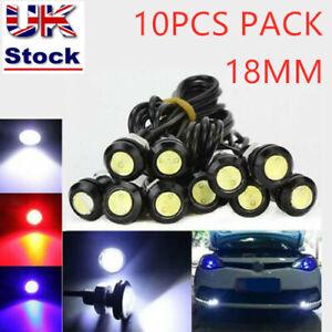 10X 12V White Eagle Eye LED Daytime Running DRL Backup Light Motorcycle Car Lamp