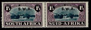 SOUTH WEST AFRICA GVI SG113, 1½d on 1½d blue-green & purple, M MINT. Cat £38.
