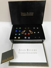 Joan Rivers Classic Interchangeable Pierced Earrings With Enhancers 10 Colors!