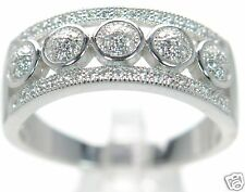 Solid 925 Sterling Silver Simulated Diamond Openwork Band Ring Sz- 5 '