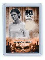 2018 Walking Dead Hunters & Hunted Orange Wardrobe Relic Maggie Rhee R-MR /99