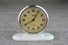 Slava vintage desk table alarm mechanical 1960 clock USSR Russian fit junghans