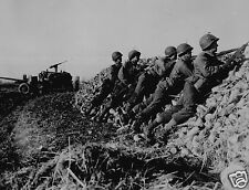 US Army Infantry Anti Tank Crew Holland World War 2 Reprint Photo 7x5 inches