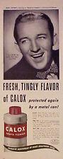 1945 Bing Crosby~Road to Utopia~Movie Star Memorabilia~Calox Tooth Powder AD