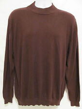 MURANO BY RAFFI MADE IN ITALY DESIGNER MENS LARGE L SWEATER BURGUNDY WINE