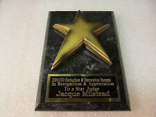 EMPLOYEE OF THE MONTH AWARD SALESMAN TEACHER PLAQUE FREE ENGRAVING 2 DAY M