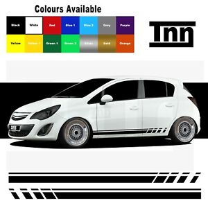 Side Stripe Stickers For Vauxhall Corsa VXR SRI SXI Decals Graphics Opel Car