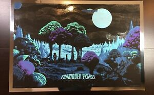 """FORBIDDEN PLANET"" KILIAN ENG LIMITED EDITION SCI-FI SCREEN (VARIANT) PRINT $275"