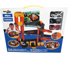 Parkgarage Kinder Spielzeug Auto Garage Parkhaus  Tankstelle Autowerkstatt