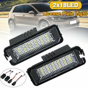 For VW Golf MK5 MK6 Polo PASSAT EOS ERROR FREE 2x LED Licence Number Plate Light
